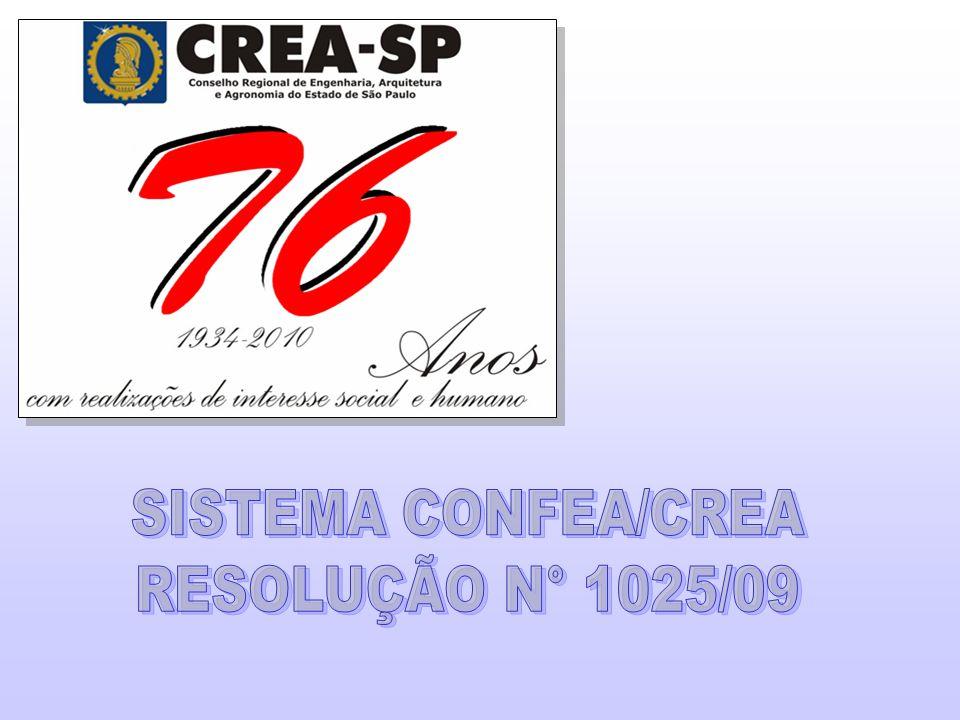 2 Sistema que fiscaliza o exercício das profissões na área tecnológica SISTEMA CONFEA CREAS