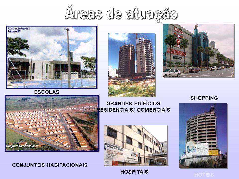 11 ESCOLAS CONJUNTOS HABITACIONAIS GRANDES EDIFÍCIOS RESIDENCIAIS/ COMERCIAIS SHOPPING HOTEIS HOSPITAIS