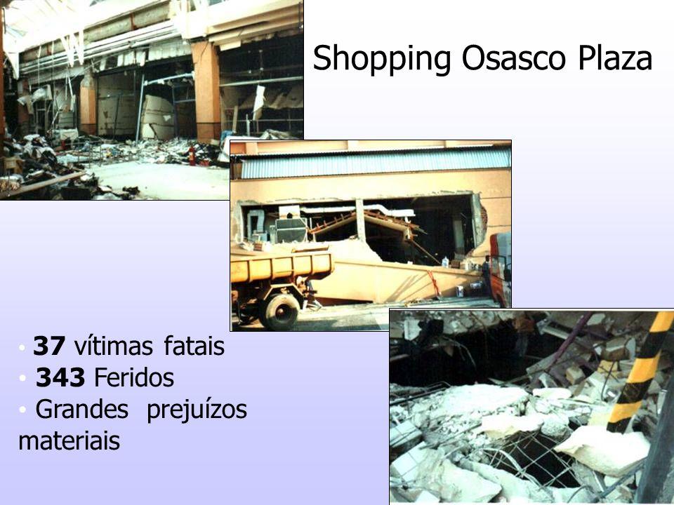 39 Shopping Osasco Plaza 37 vítimas fatais 343 Feridos Grandes prejuízos materiais
