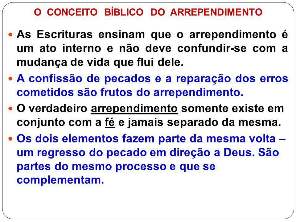 OS MOTIVOS DO ARREPENDIMENTO A.
