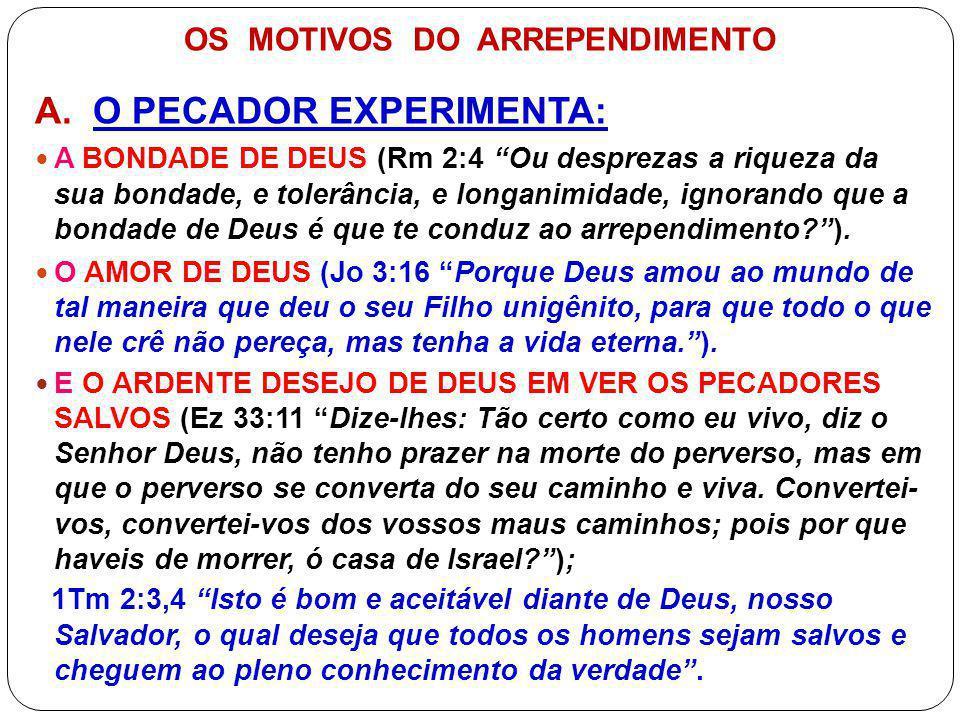 OS MOTIVOS DO ARREPENDIMENTO B.