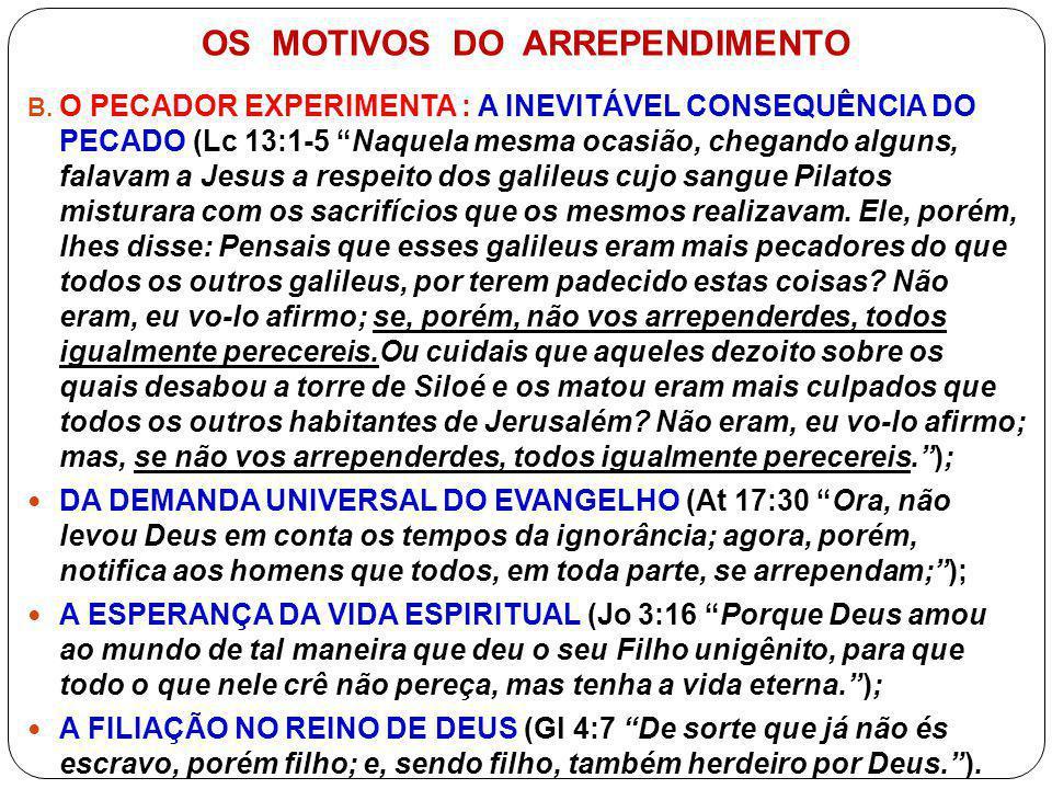 OS MOTIVOS DO ARREPENDIMENTO C.