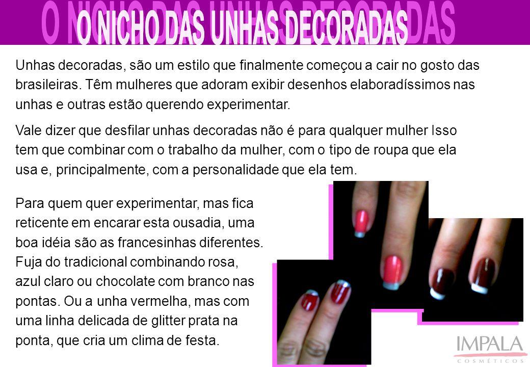 Unhas decoradas, são um estilo que finalmente começou a cair no gosto das brasileiras. Têm mulheres que adoram exibir desenhos elaboradíssimos nas unh