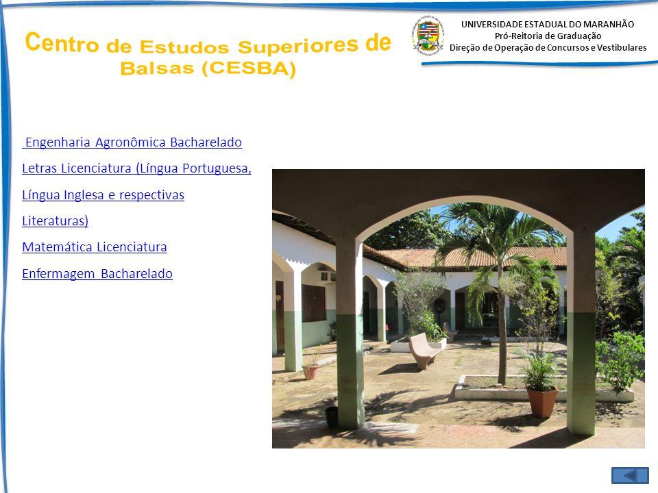 UNIVERSIDADE ESTADUAL DO MARANHÃO Pró-Reitoria de Graduação Direção de Operação de Concursos e Vestibulares Engenharia Agronômica Bacharelado Letras L
