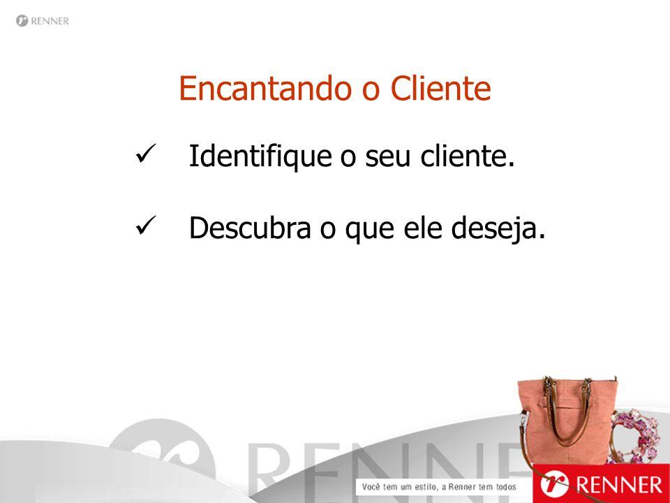 Encantando o Cliente Identifique o seu cliente. Descubra o que ele deseja.