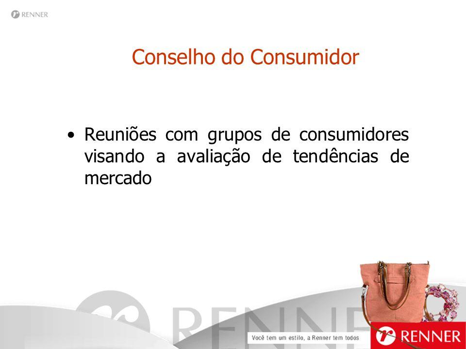 Conselho do Consumidor Reuniões com grupos de consumidores visando a avaliação de tendências de mercado