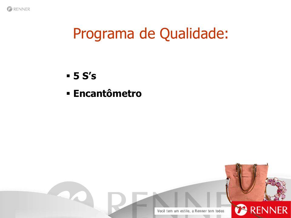 Programa de Qualidade:  5 S's  Encantômetro