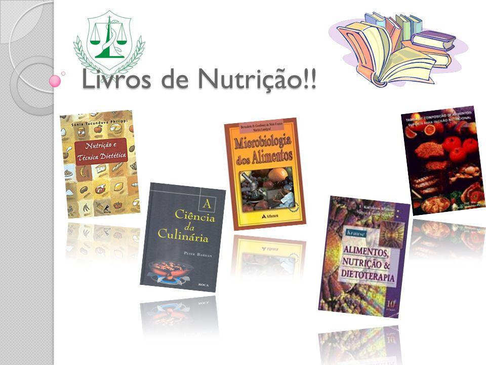 Livros de Nutrição!!