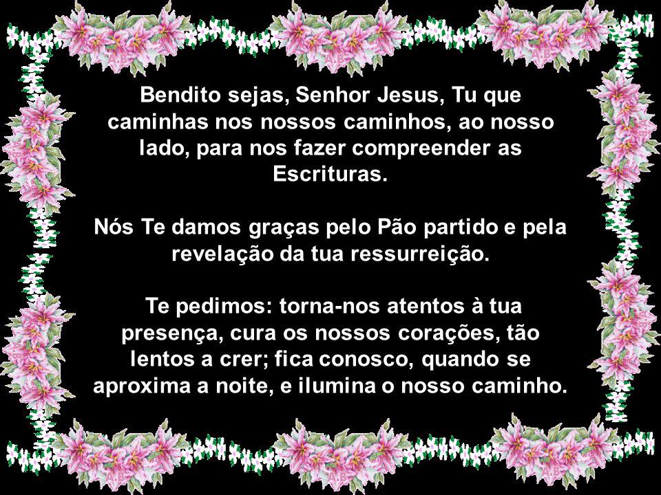 Nós Te bendizemos por Jesus Cristo, o Cordeiro sem pecado e sem mancha, cujo precioso sangue nos libertou. Por Cristo ressuscitado, acreditamos e colo