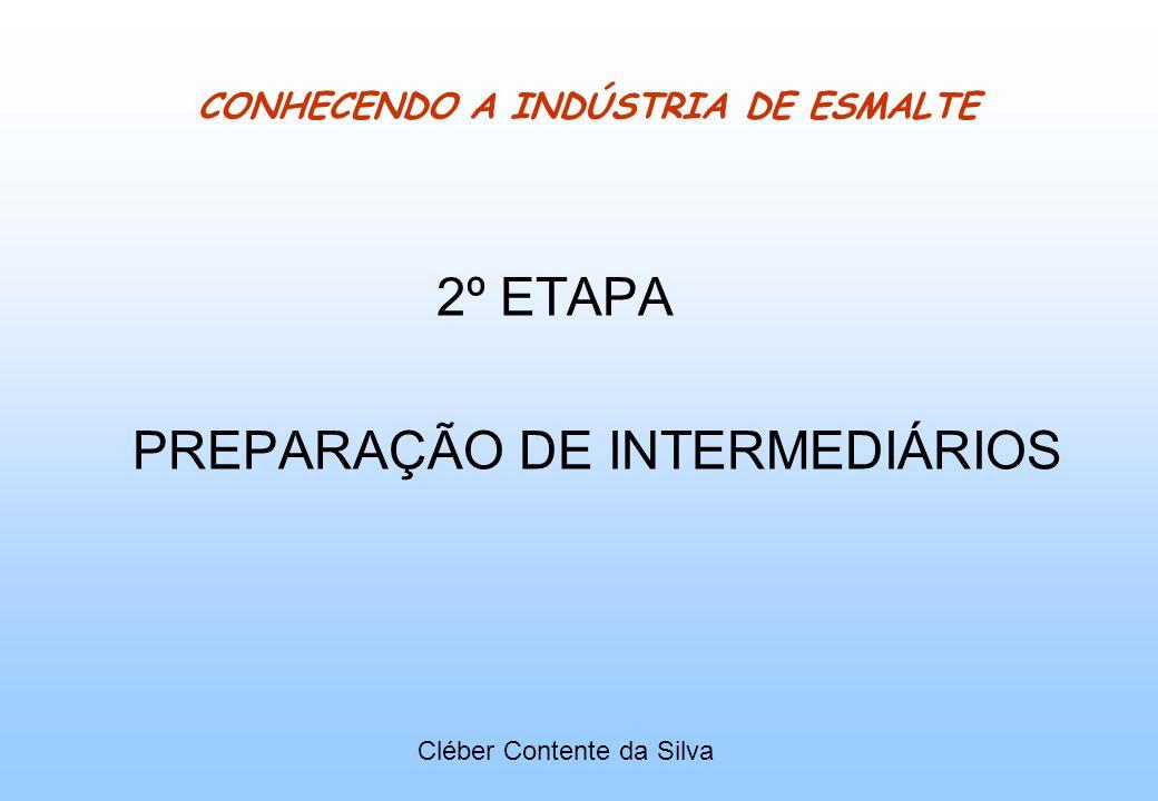 CONHECENDO A INDÚSTRIA DE ESMALTE 2º ETAPA PREPARAÇÃO DE INTERMEDIÁRIOS Cléber Contente da Silva