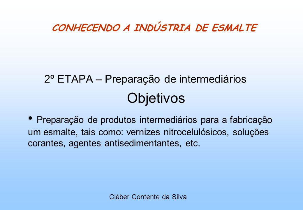 CONHECENDO A INDÚSTRIA DE ESMALTE 2º ETAPA – Preparação de intermediários Objetivos Preparação de produtos intermediários para a fabricação um esmalte
