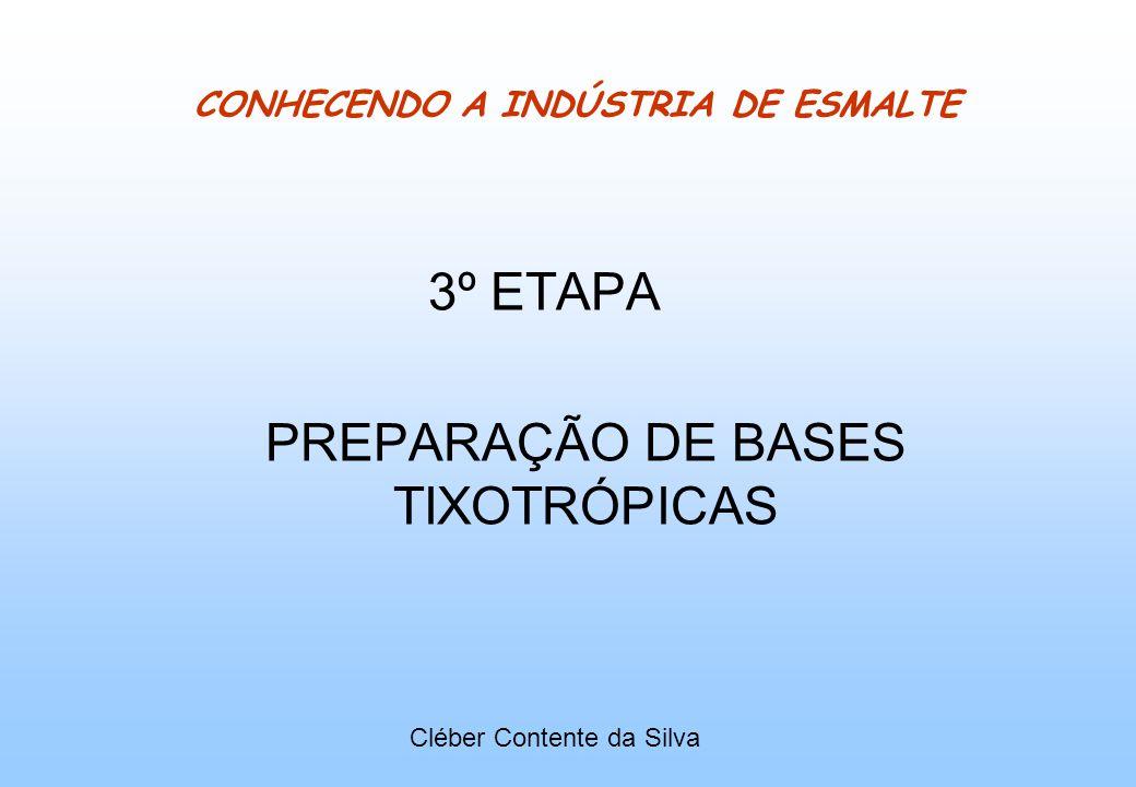 CONHECENDO A INDÚSTRIA DE ESMALTE 3º ETAPA PREPARAÇÃO DE BASES TIXOTRÓPICAS Cléber Contente da Silva