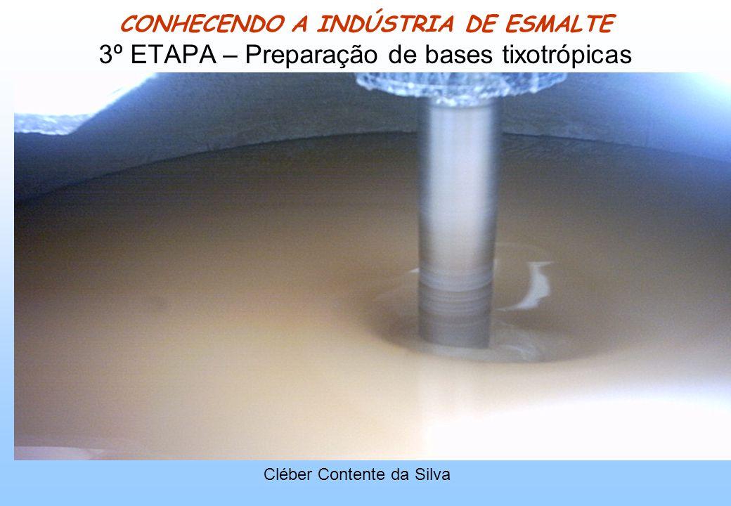 CONHECENDO A INDÚSTRIA DE ESMALTE 3º ETAPA – Preparação de bases tixotrópicas Cléber Contente da Silva