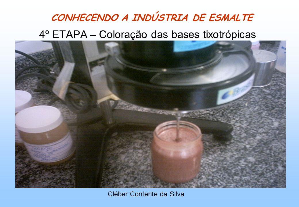 CONHECENDO A INDÚSTRIA DE ESMALTE 4º ETAPA – Coloração das bases tixotrópicas Cléber Contente da Silva