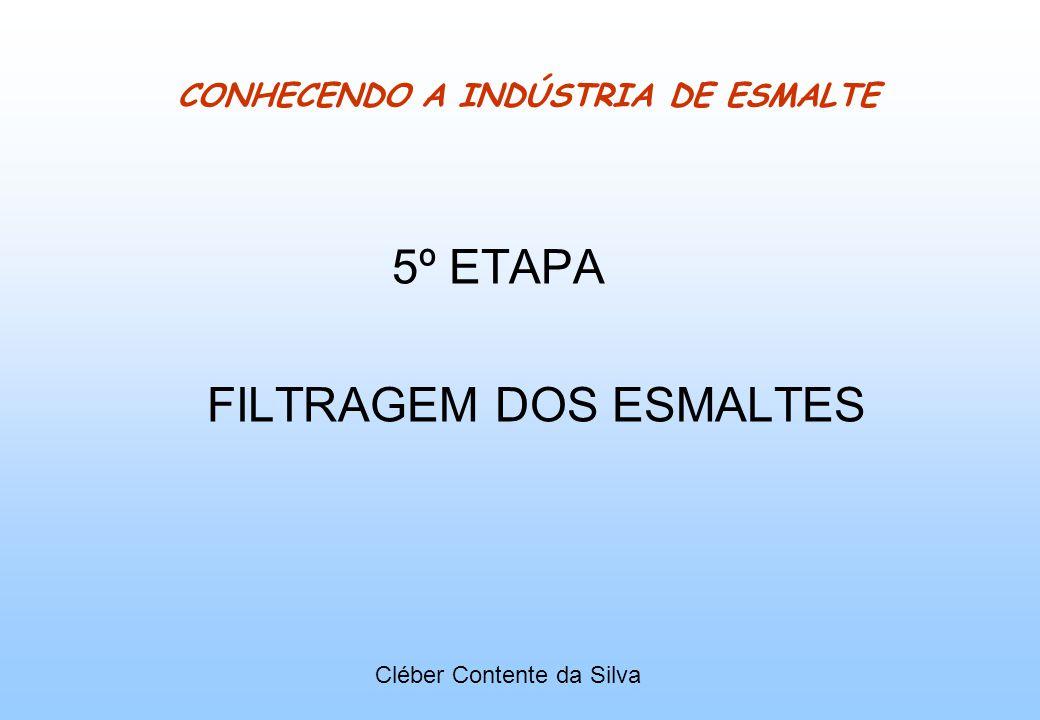 CONHECENDO A INDÚSTRIA DE ESMALTE 5º ETAPA FILTRAGEM DOS ESMALTES Cléber Contente da Silva