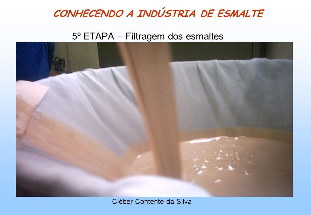 CONHECENDO A INDÚSTRIA DE ESMALTE 5º ETAPA – Filtragem dos esmaltes Cléber Contente da Silva
