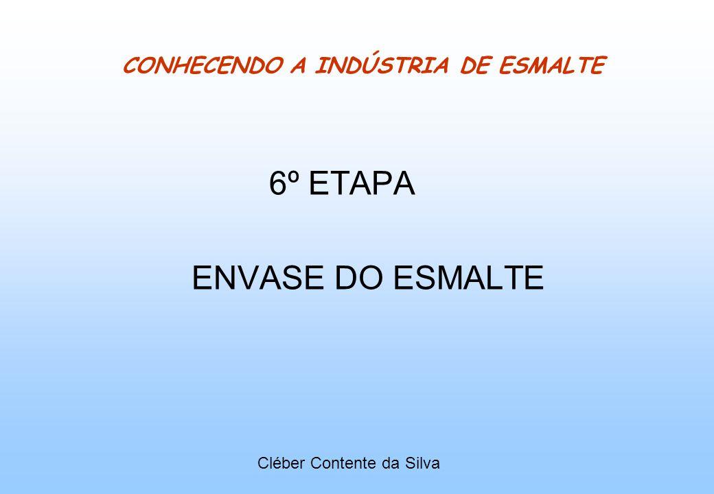 CONHECENDO A INDÚSTRIA DE ESMALTE 6º ETAPA ENVASE DO ESMALTE Cléber Contente da Silva