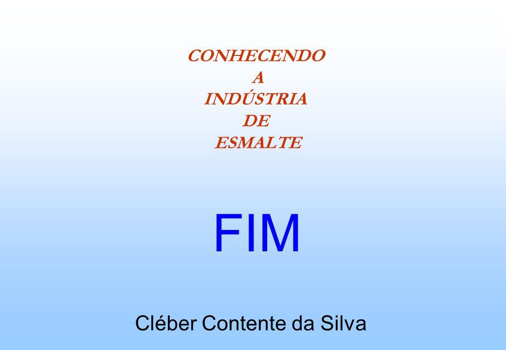 CONHECENDO A INDÚSTRIA DE ESMALTE Cléber Contente da Silva FIM