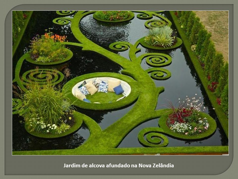 Jardim de alcova afundado na Nova Zelândia