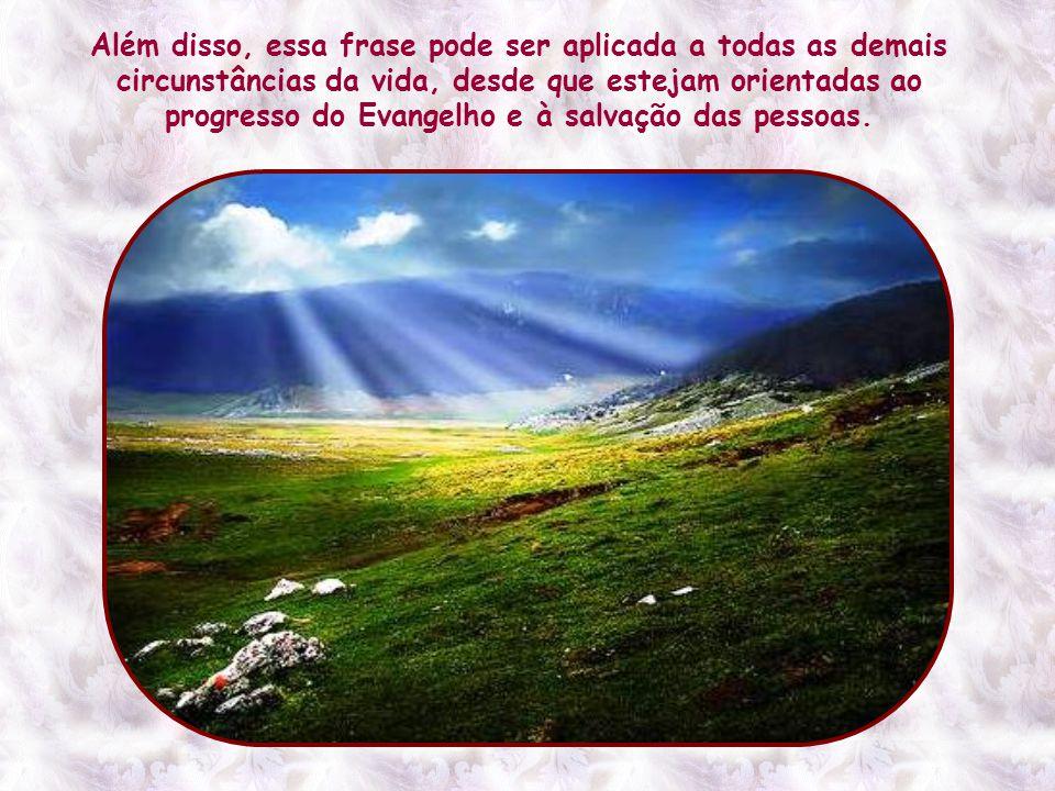 É então que Jesus garante aos seus que, com a fé, transportarão as montanhas da indiferença, do desinteresse do mundo.