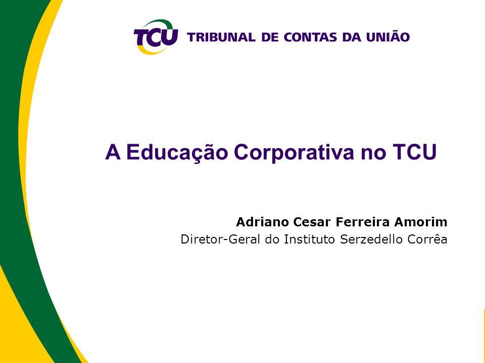 A Educação Corporativa no TCU Adriano Cesar Ferreira Amorim Diretor-Geral do Instituto Serzedello Corrêa