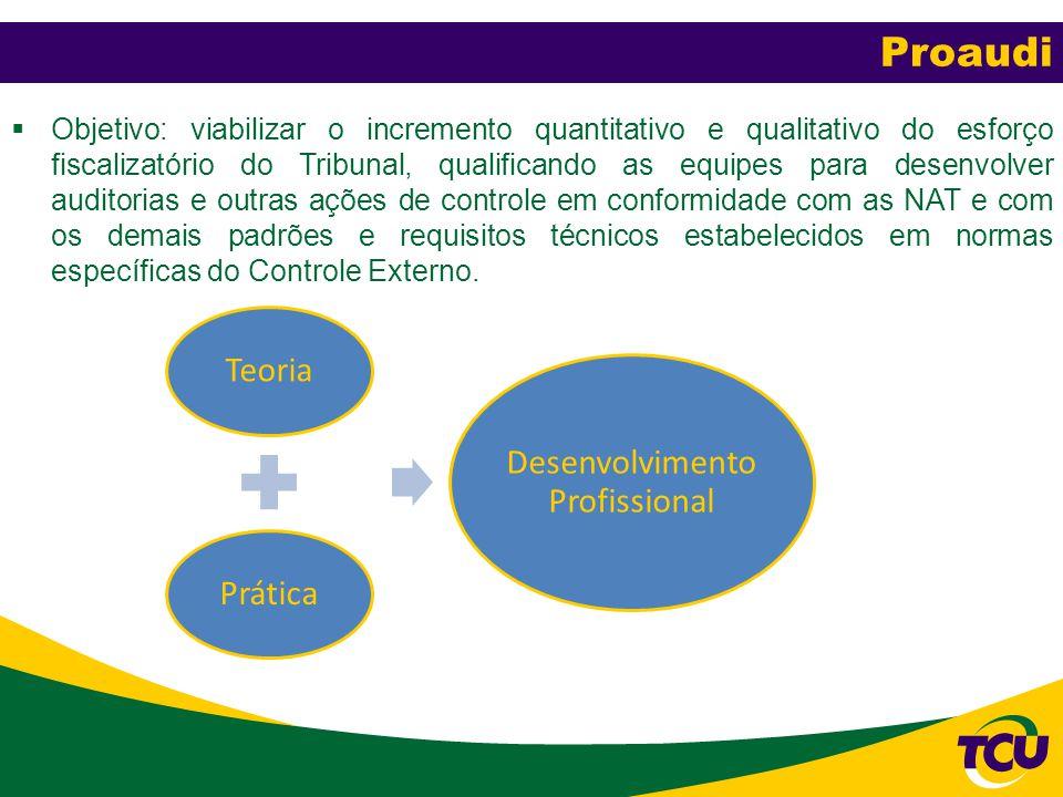  Objetivo: viabilizar o incremento quantitativo e qualitativo do esforço fiscalizatório do Tribunal, qualificando as equipes para desenvolver auditor