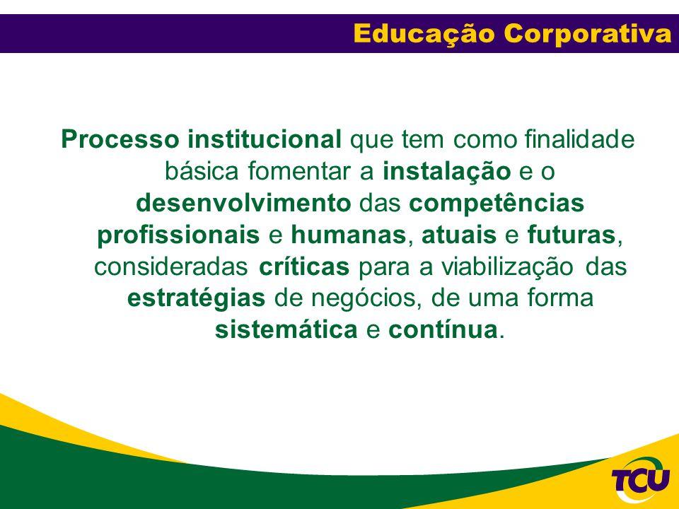 Processo institucional que tem como finalidade básica fomentar a instalação e o desenvolvimento das competências profissionais e humanas, atuais e fut