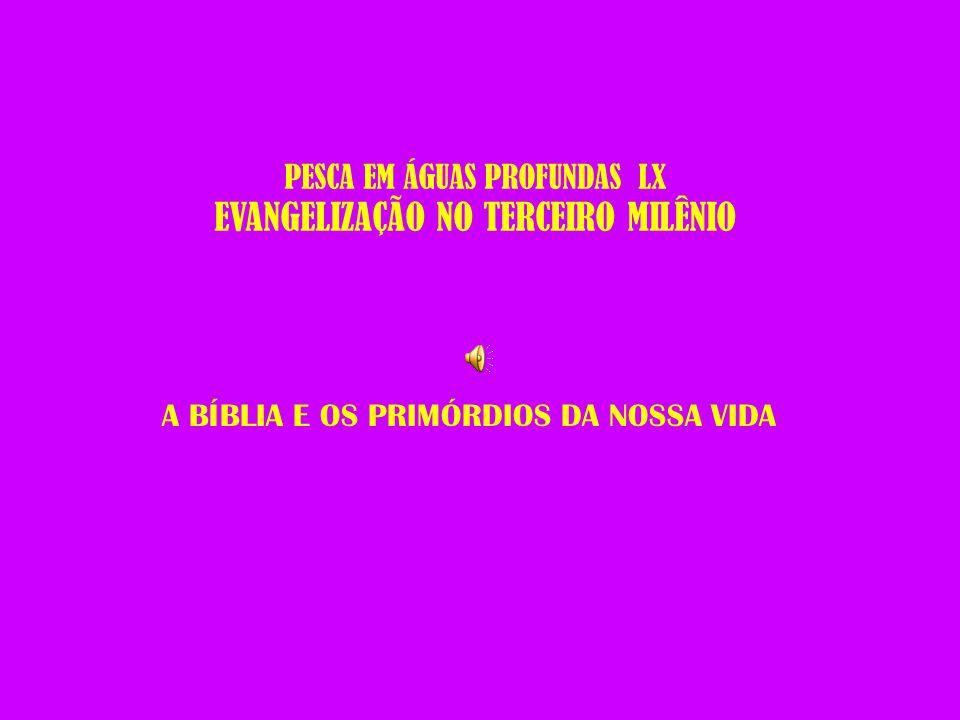 PESCA EM ÁGUAS PROFUNDAS LX EVANGELIZAÇÃO NO TERCEIRO MILÊNIO A BÍBLIA E OS PRIMÓRDIOS DA NOSSA VIDA