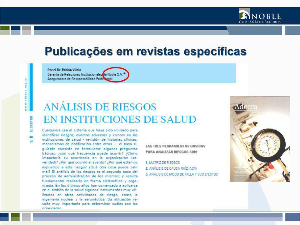 Publicações em revistas específicas Publicações em revistas específicas