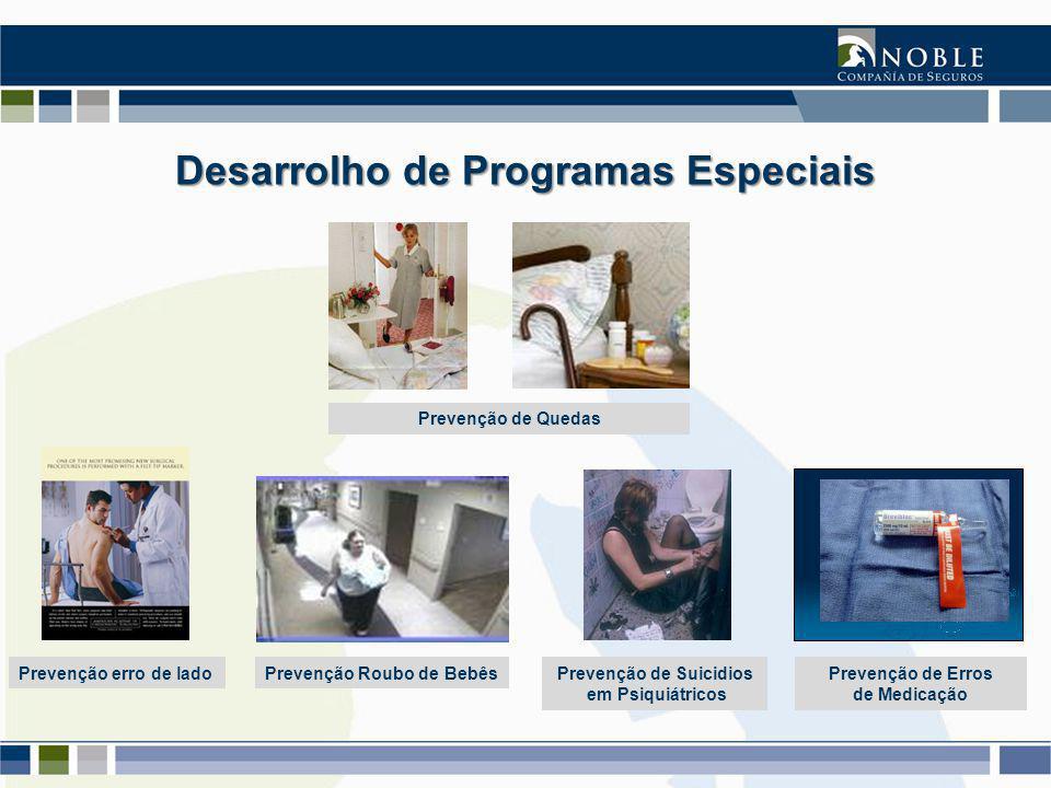 Desarrolho de Programas Especiais Prevenção de Quedas Prevenção erro de ladoPrevenção Roubo de BebêsPrevenção de Suicidios em Psiquiátricos Prevenção de Erros de Medicação