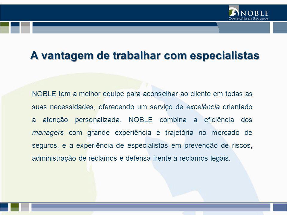 NOBLE tem a melhor equipe para aconselhar ao cliente em todas as suas necessidades, oferecendo um serviço de excelência orientado à atenção personalizada.