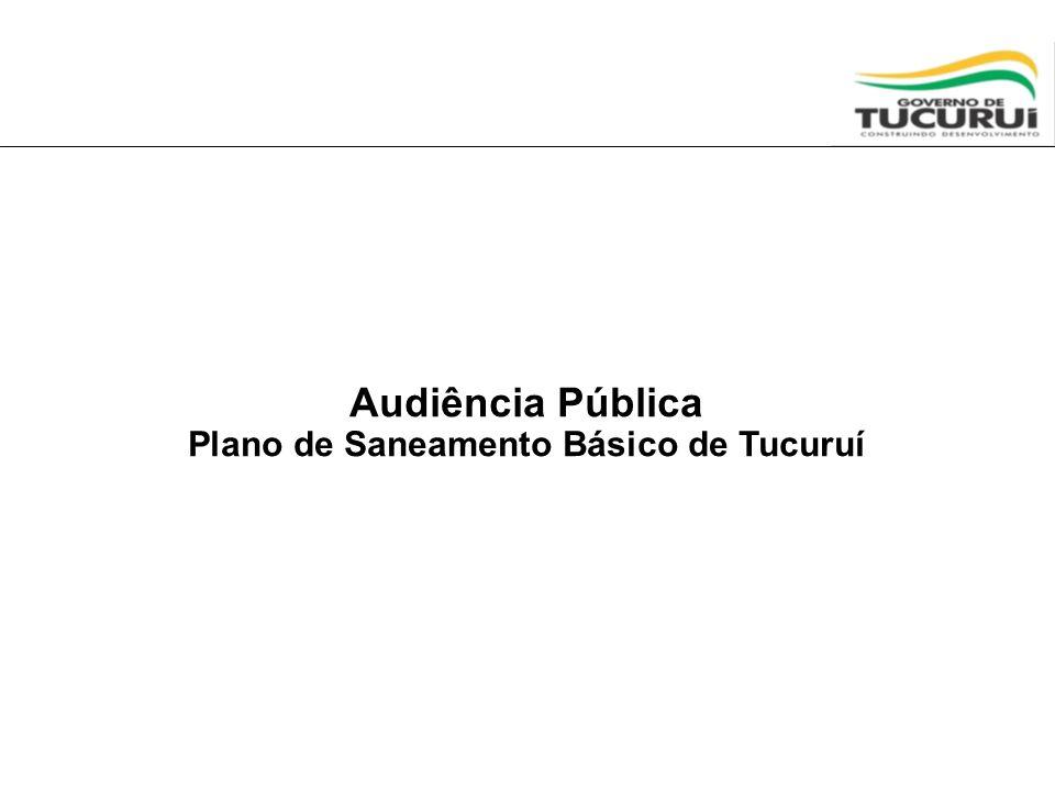 Apresentação Esta Audiência apresentará requisitos para a elaboração de futura Minuta de Edital/Contrato Programa para a operação, por empresa de economia mista ou privada, dos serviços de água e esgotamento sanitário de Tucuruí.