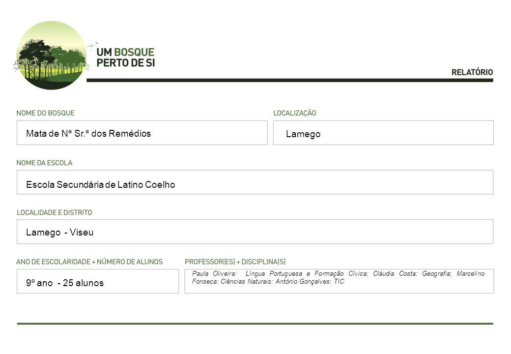 Lamego Escola Secundária de Latino Coelho Lamego - Viseu Paula Oliveira: Língua Portuguesa e Formação Cívica; Cláudia Costa: Geografia; Marcelino Fons