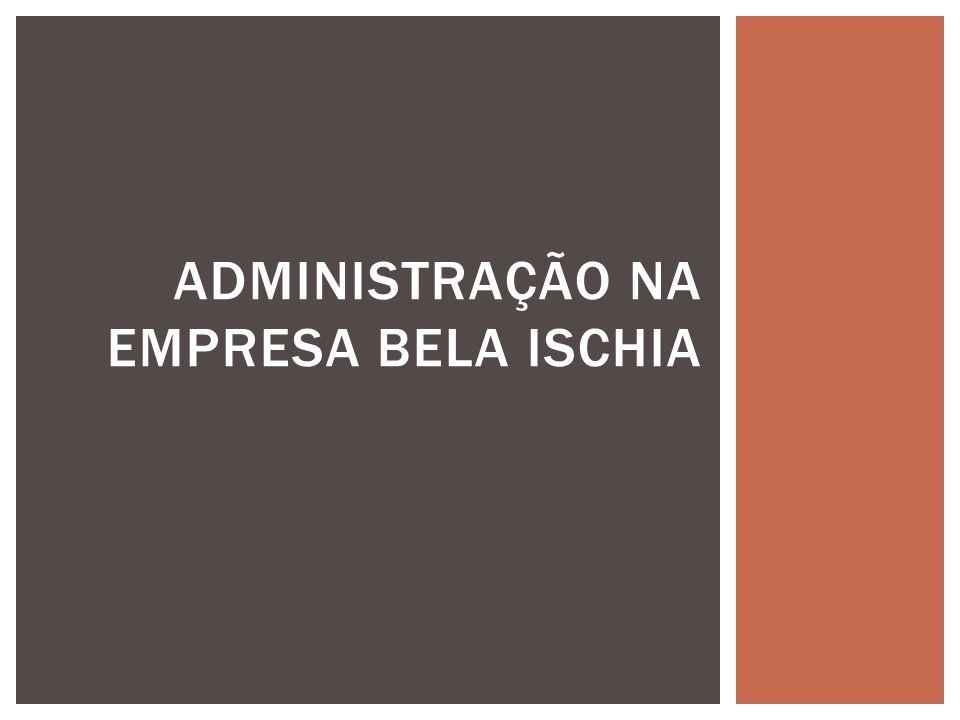  A Base da Pesquisa – A empresa Bela Ischia;  Análise das teorias administrativas;  A teoria em que a empresa está Fundamentada - Mosaico de todas as teorias;  Os Alunos.