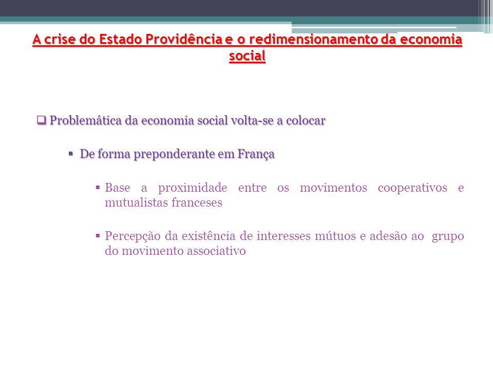  Desenvolvimento de apoios financeiros à economia social e às suas organizações  Aumento do emprego  Desenvolvimento de associações locais  Cooperativas dos mais variados tipos