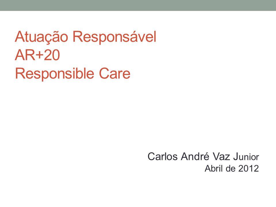 Atuação Responsável AR+20 Responsible Care Carlos André Vaz J unior Abril de 2012