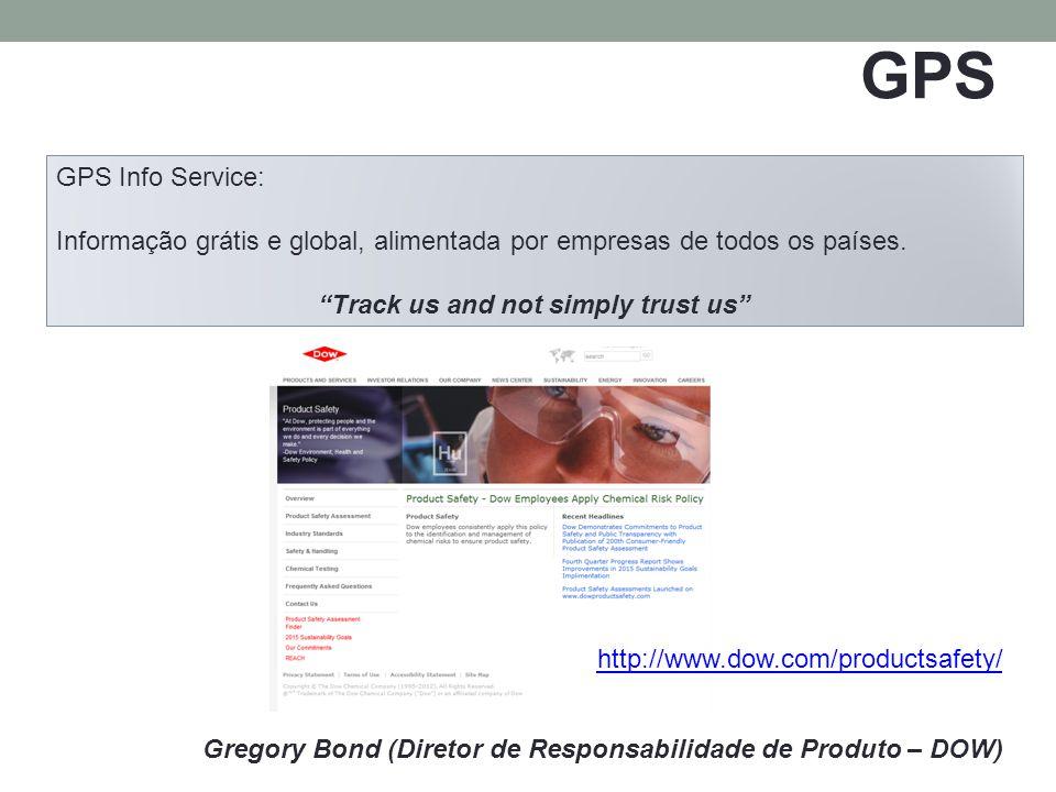 GPS Gregory Bond (Diretor de Responsabilidade de Produto – DOW) GPS Info Service: Informação grátis e global, alimentada por empresas de todos os países.