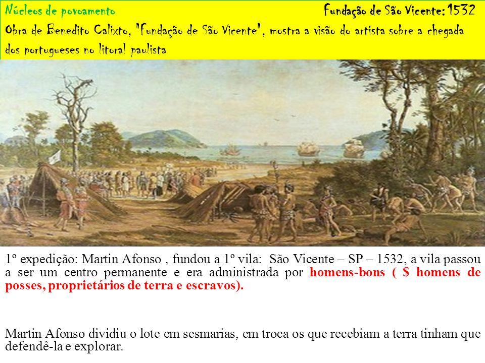 Núcleos de povoamento Fundação de São Vicente: 1532 Obra de Benedito Calixto,
