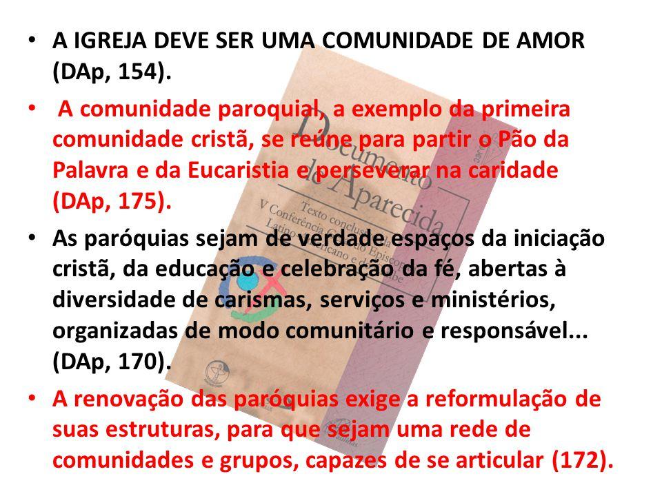 A IGREJA DEVE SER UMA COMUNIDADE DE AMOR (DAp, 154).