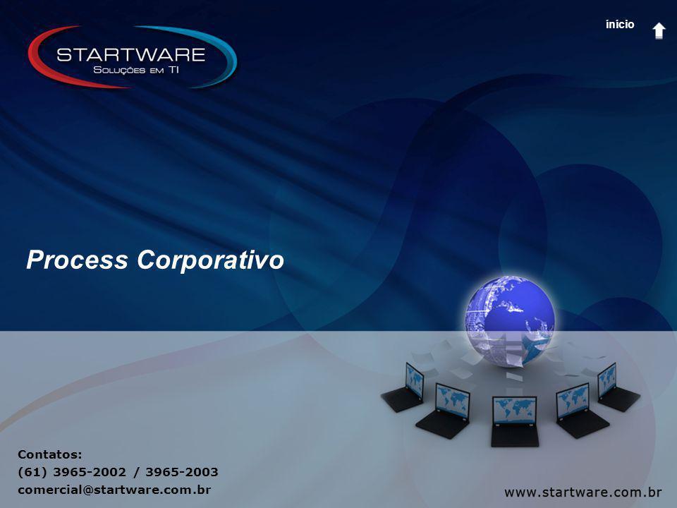 Contatos: (61) 3965-2002 / 3965-2003 comercial@startware.com.br Process Corporativo ínício