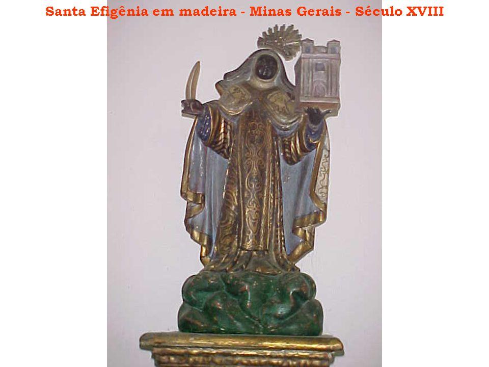 Santa Efigênia em madeira - Minas Gerais - Século XVIII