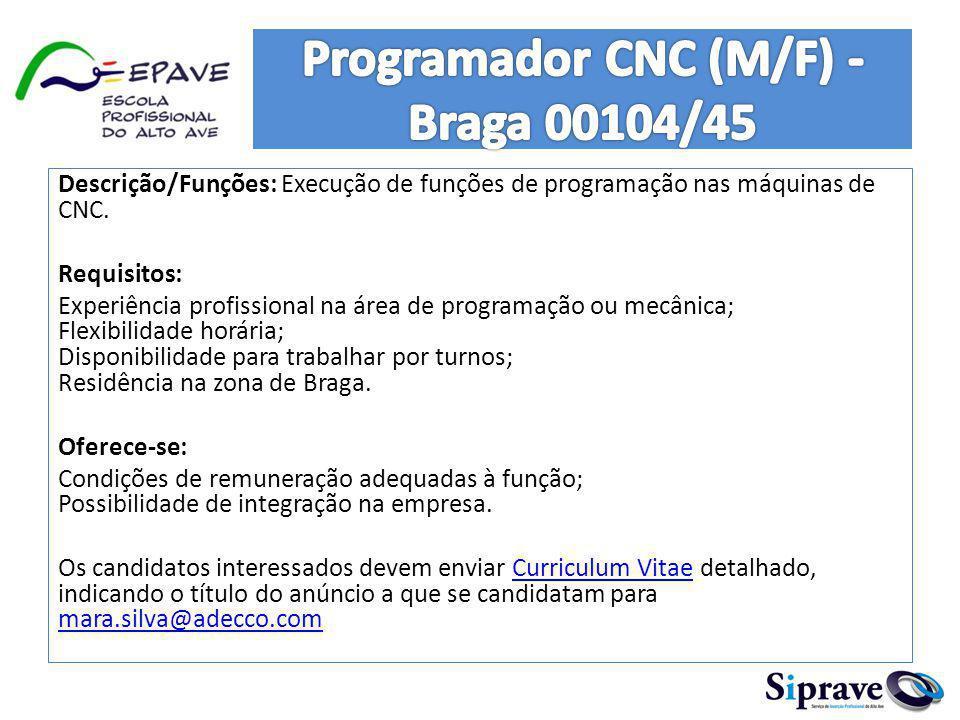 O nosso cliente é uma prestigiada empresa no sector em que atua e no âmbito do reforço da sua equipa, pretende recrutar: Coordenador Técnico de Infraestruturas de Telecomunicações/Televisão (m/f) para Braga.