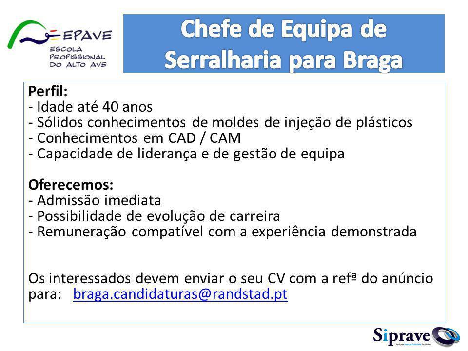 Precisa-se de funcionária para loja no Espaço Guimarães com os seguintes requisitos : -Boa aparência; -Disponibilidade de trabalhar por turnos e aos fins-de-semana; -Residência em Guimarães; -Disponibilidade imediata.