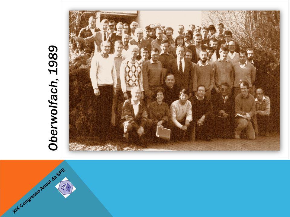 XIX Congresso Anual da SPE Oberwolfach, 1989
