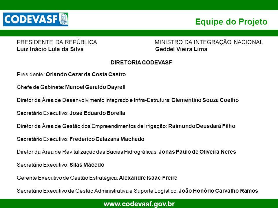 73 www.codevasf.gov.br Benefícios ao desenvolvimento da região Pinhão Manso Arrecadação de impostos e contribuições (valores estimados para cada ano do projeto, sem correção monetária e sem considerar possíveis incentivos); –Produção Agrícola: R$ 239.400 (CPMF) e R$ 1.260.000 (IR).