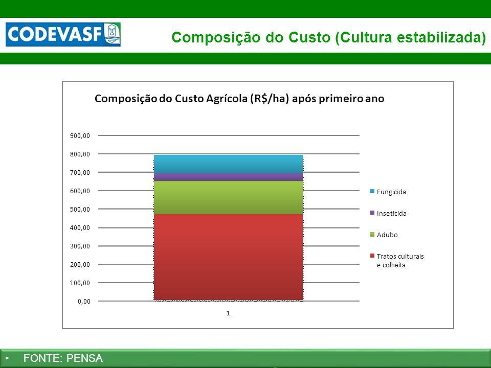 59 www.codevasf.gov.br Composição do Custo (Cultura estabilizada) FONTE: PENSA 0,00 100,00 200,00 300,00 400,00 500,00 600,00 700,00 800,00 900,00 1 C