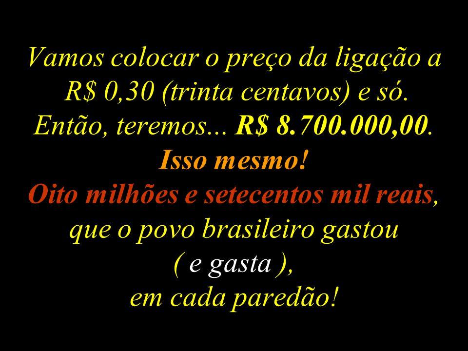 Começa mais um BBB BIG BROTHER BRASIL (2008) Como funciona o ESQUEMA: 29.000.000 (milhões) de ligações do povo brasileiro votando em algum candidato p