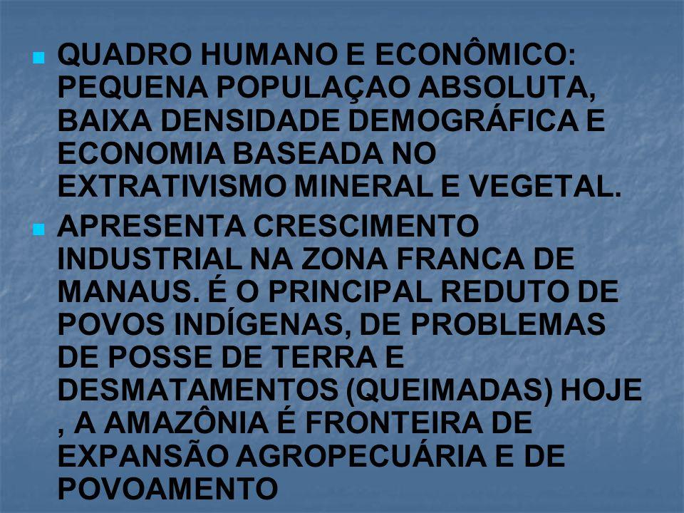 REGIÃO AMAZONICA: PARÁ, AMAPÁ, RORAIMA, AMAZONAS, ACRE E RONDÔNIA.
