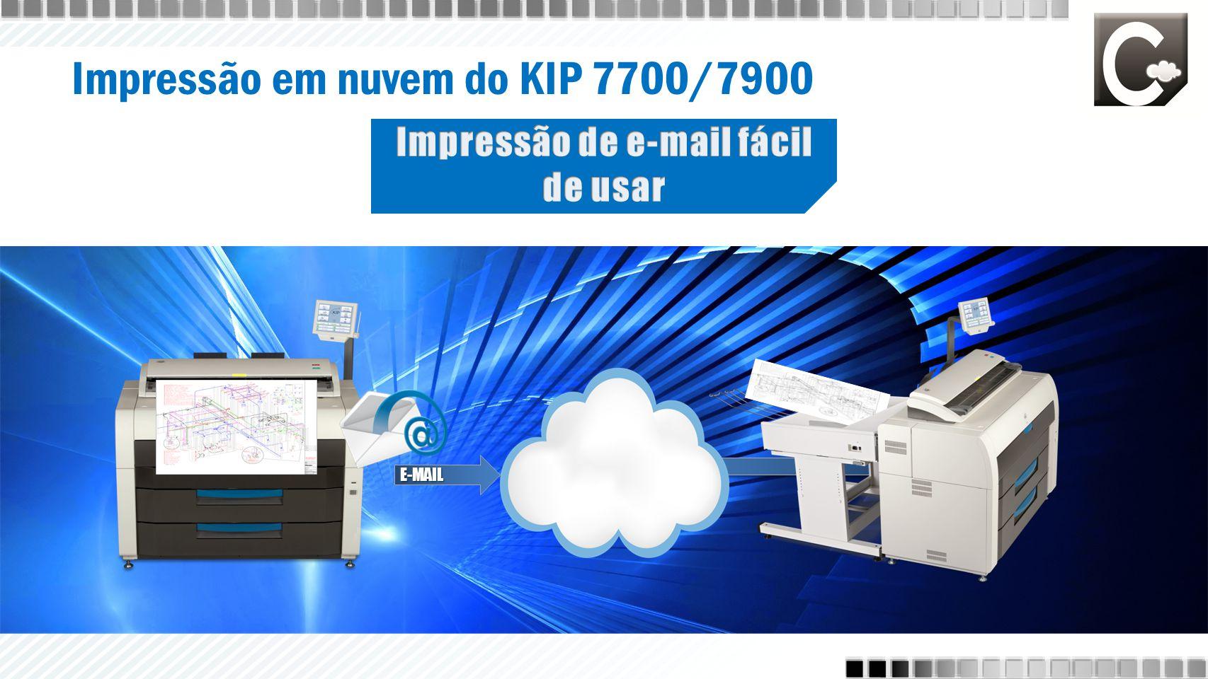 Impressão em nuvem do KIP 7700/7900 E-MAIL