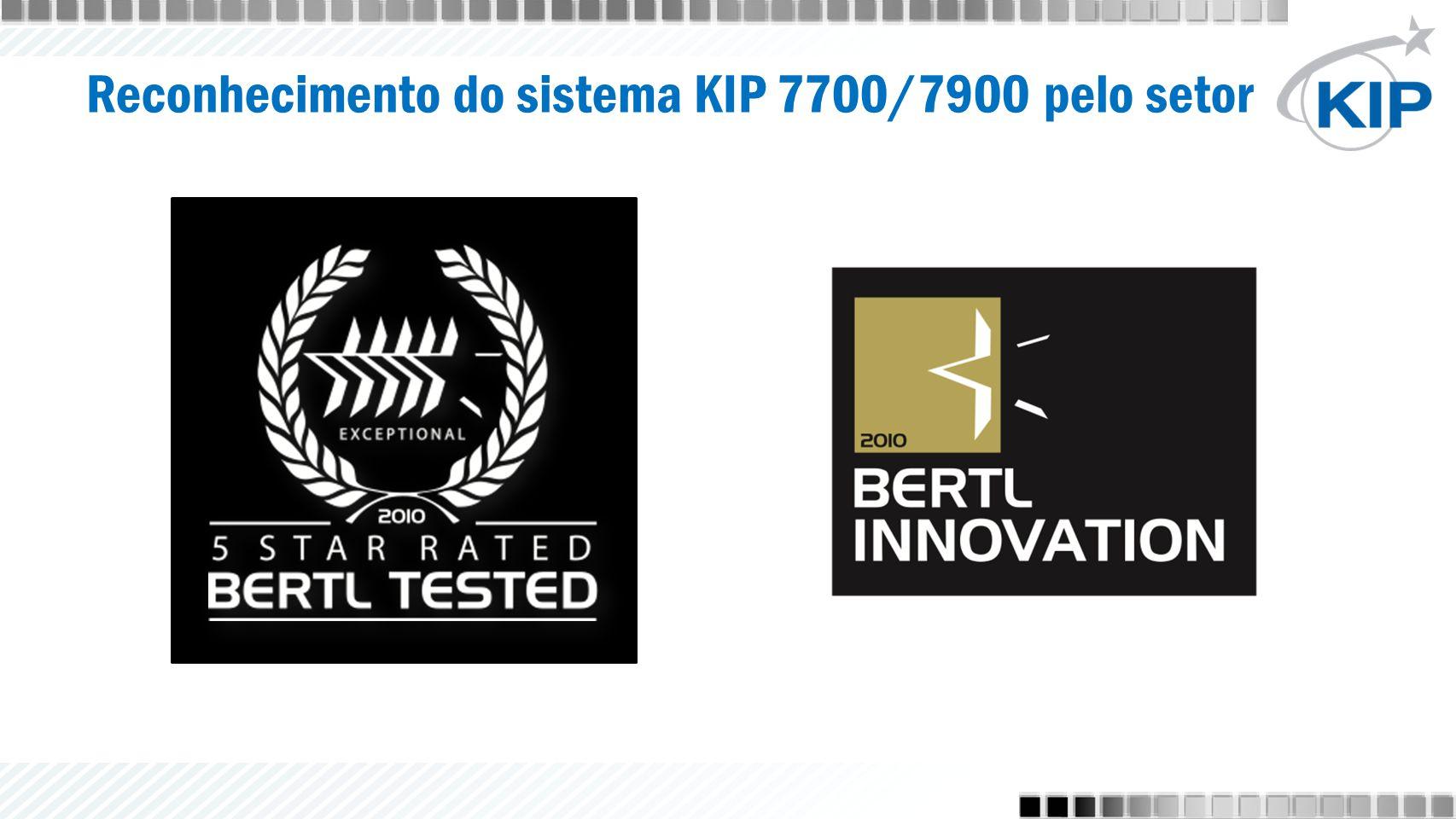 Reconhecimento do sistema KIP 7700/7900 pelo setor